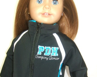 "Custom Detailed 18"" American Girl Doll Cheer Dance Warm-Up Outfit Set"