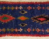 FREE SHIPPING WORLDWIDE TT22242 vintage boucherouite rug, moroccan rugs , rag rug, berber tribal art, morocco carpets, wall art