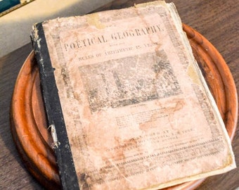 Antique Poetry Book, Poetical Geography, published 1853