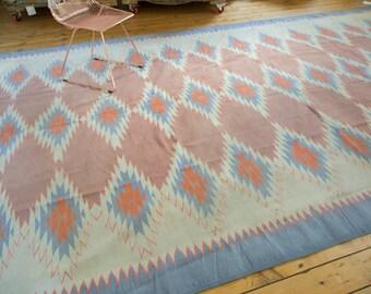 9x16 Vintage Dhurrie Carpet