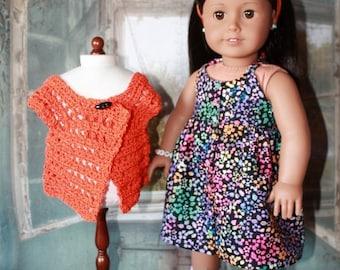 American Girl sundress and crocheted sweater set