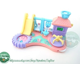 Mimi and the Goo Goos Swinging Playground Tiny Baby Playset 1990s Toy