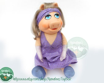 Miss Piggy Doll by Fisher Price Toy 1980s Muppets