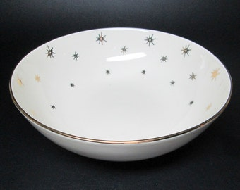 RIEBER Mittereteich Bavaria one large serving bowl , gold stars / starburst design
