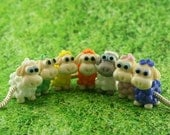 Sheep Glass lampwork big hole bead or BHB bead fit   bracelet for european bracelet
