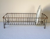 French Antique Dish Rack Iron Wire Drainer for Plate
