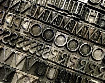 Letterpress Metal 30pt Serif Font - Adana Printing