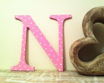 "Painted Wooden Letter - 'N' - Any Colour,  Roman Style - 20"", Wall letter, various colours, other sizes"