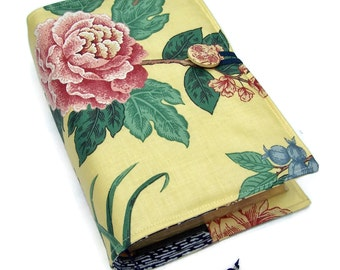 Large Bible Cover, Padded Book Cover, Oriental Dynasty Tree Peony & Butterfly, UK Seller, Suitable for Hardback or Paperback books