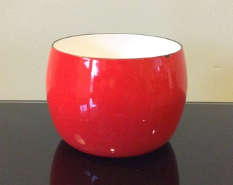 Dansk International Designs France IHQ Red Enamel Kobenstyle Nesting Bowl