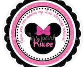 PRINTABLE, Minnie Mouse Favor Tags