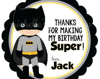 SET OF 12, Batman Favor Tags