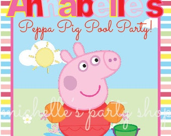 PRINTABLE, Peppa Pig Table Sign, size 5x7 or 8x10