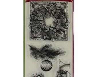 INKADINKADO EVERGREEN HOLIDAY Clear Acrylic Stamp Set