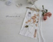 SEAWASHED HEM BANNER French Nordic Coastal Jeanne D Arc Style Shabby Chic Beach Bohemian Sea Cottage Living