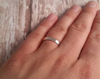Size 10 Solid Sterling Silver Ring, Finger Ring for Stamping, Name Ring, Hand Stamped Jewelry Component, Stampable Stacking DIY