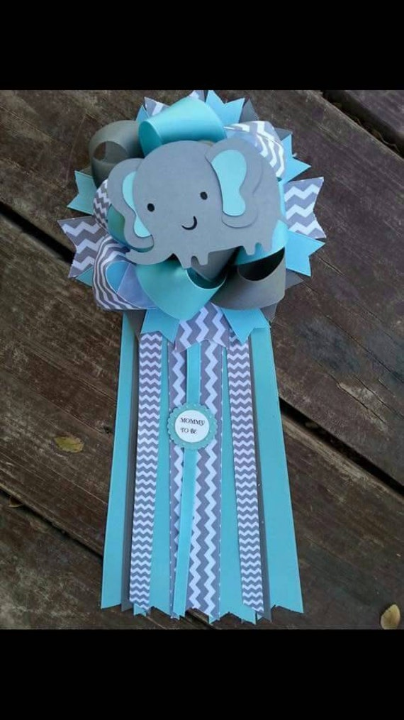 elephant baby shower mum by bonbow on etsy
