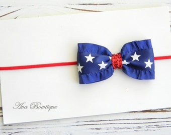 4th of July Headband - Baby July 4th Headband - Patriotic Headband - girls 4th of July Headband