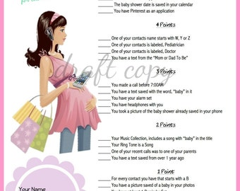 Baby Shower Game - Printable - Instant download | For the Modern Day Mum