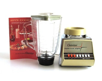 Oster Blender Osterizer Glass Jar Small Kitchen Appliance 548 Cyclo-Trol 8 Imperial