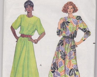 Butterick 4908 Misses Dress Sewing Pattern Fast and Easy Size 12-16 UNCUT Factory Folded - Dated 1990