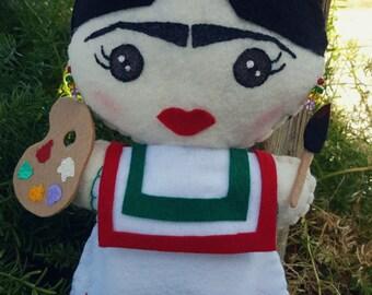 Frida Kahlo plushie!