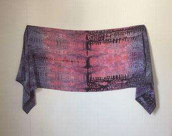 Wabi Sabi City, Hand Dyed Silk Shibori Scarf