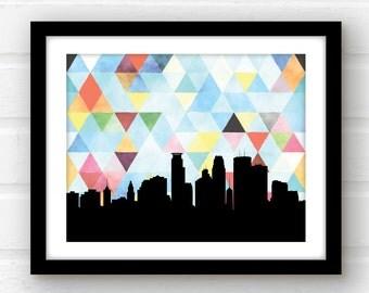 Minnesota wall art   Minneapolis skyline art   Minnesota art   Minneapolis art print   Minneapolis, Minnesota print   Minneapolis print