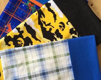 Pillowcase,Custom Pillowcase, Made to Compliment T-Shirt Quilt