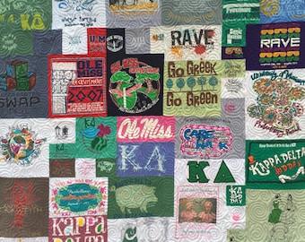 Sorority Quilt DEPOSIT,  Mosaic TShirt Quilt, Puzzle Quilt, (DEPOSIT)