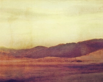 Large Wall Art, Minimal Desert Landscape, Modern Southwest Photography, Neutral Colors, Zen Interior, Photo Painting, Layered Collage
