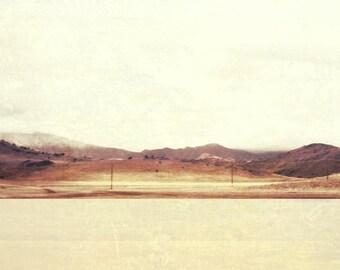 Large Wall Art, Minimal Desert Landscape, Modern Southwest Photography, Desert Mountains, Pale, Muted Color, Layered Collage, Modern Desert