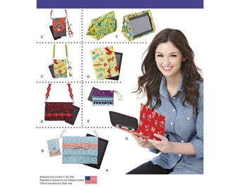 Simplicity Pattern 1339 Covers for Tablet, E-Reader and Phone ~ Elaine Heigl ~ Uncut and Factory Folded