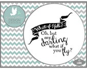 What if you Fly LL088 C  - SVG - Vector - Cutting File - Graphic Design - ai, eps, svg, dxf (for Silhouette users), jpg, png
