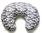 Nursing Pillow Cover Grey Faded Triangles- Nursing Pillow Cover - Triangle Boppy Cover - Soft Minky Boppy Cover - Grey Cover - Organic Boppy