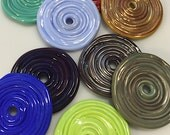 Large glass Disc bead by Thornburg Bead Studio - Artisan Made - Made to order