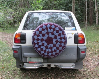 Spare Wheel Cover – KNITTING PATTERN - pdf file by automatic download