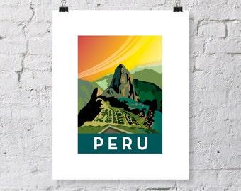 Peru Machu Picchu print