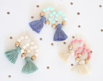 Tassel Earrings, Beaded Tassel Earrings, Tassel Jewelry