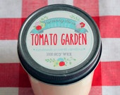 Tomato Garden Soy Wax Candle in 8 oz. Jelly Jar - Garden Summer Candle for Gardeners, Gift, Housewarming, Hostess, Birthday