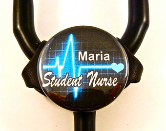Littmann Bling ID Stethoscope name tag, Fits all Classic Littmann lll models, including all other brands