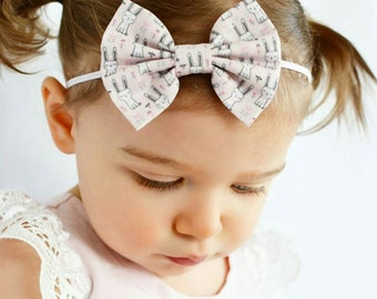 New, Easter { Katie } bunny bow or headband . Easter headband, baby girl headband, newborn headband