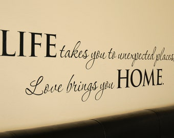 Life Home Quote - Wall Decal