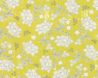 SALE - Garden Project - Yellow Floral by Tim and Beck from Moda