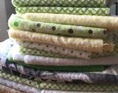 Fabric Scraps Bundle. 1 lb of Flannel Scraps. Various colors. Rag bag. One pound scraps