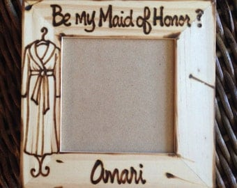 Bridal party robes • spa day bachelorette • will you be my maid of honor • bridesmaid proposal • picture frames • wedding •personalized gift