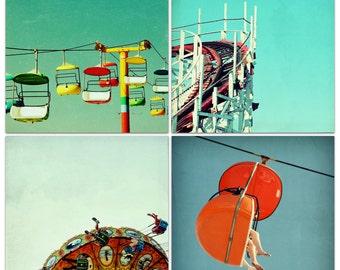 california beach boardwalk // carnival wall art // santa cruz art // cheerful playful modern summer art // - Sleeveless Days