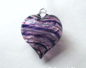 Purple & Pink Stripe Heart Ornament : DISASTER RELIEF