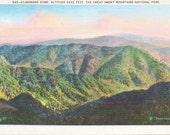 Clingman's Dome, Smoky Mountains, National Park - Linen Postcard - Unused (A10)
