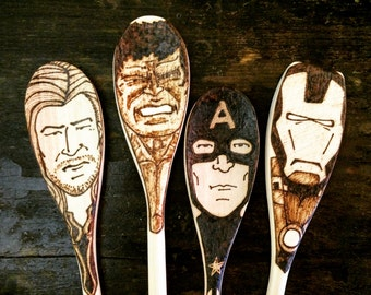 Avengers Spoons Hulk Captain America Iron Man Thor Birthday Christmas Gifts for Him Food Lovers Under 30 Geek Kitchen Super Hero Decor